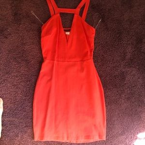 Charlotte Russe orange bodycon dress